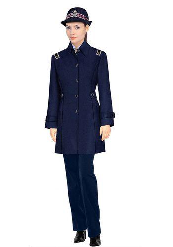 最新款女式保安大衣制服