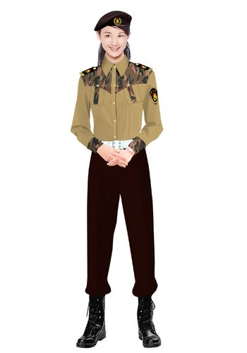 物业女保安服