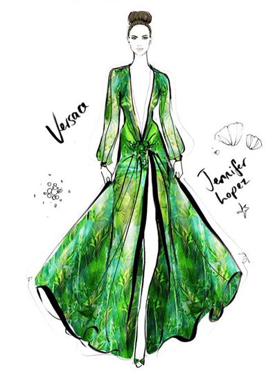 时装插画师MeganHess笔下大作的时尚华丽裙装