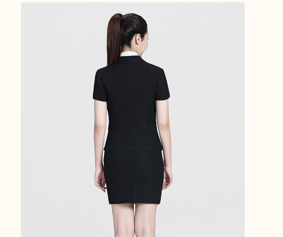 黑色半袖女士套装