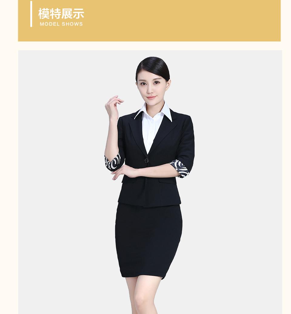 黑色女夏装半袖职业装女装