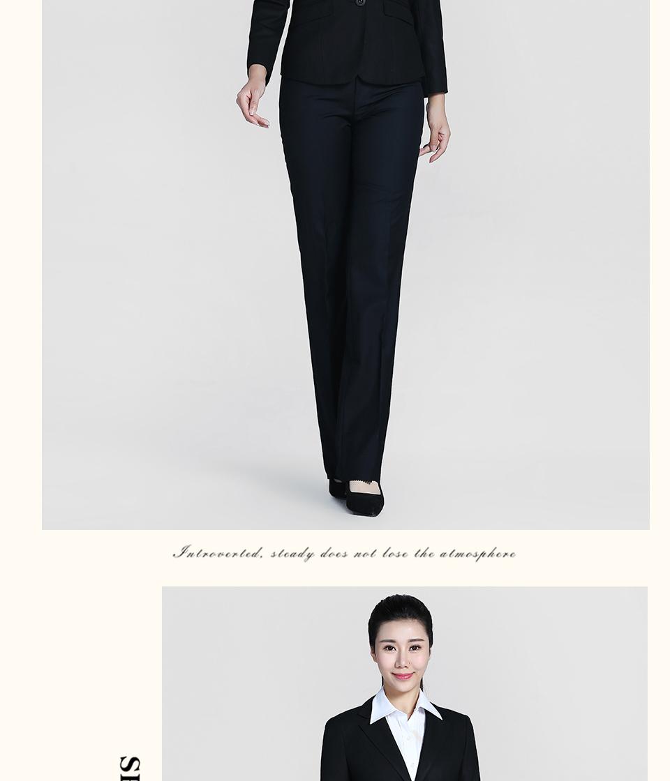 黑色女士西装二粒扣职业装FX02