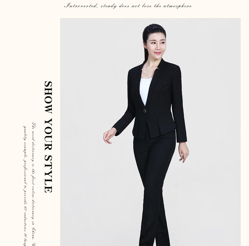 黑色时尚职业装FX07