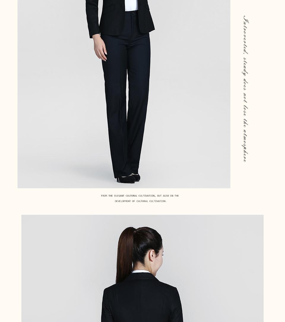 新款黑色女士西装二粒扣职业装FX02